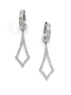 KC Designs - Diamond Convertible Diamond-Shaped Earrings
