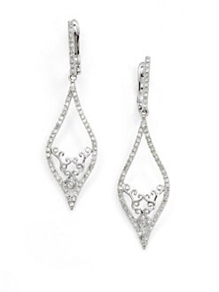 KC Designs - Diamond Marquis Drop Earrings