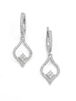 KC Designs - Diamond Ornate Marquis Drop Earrings