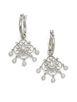 KC Designs - Diamond Convertible Filigree Drop Earrings