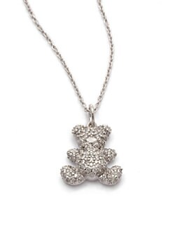 KC Designs - Diamond Teddy Bear Pendant Necklace