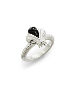 Slane - Black Onyx & Diamond Bee Free Ring