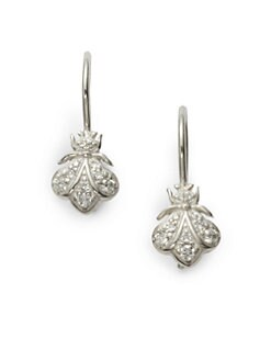 Slane - Pave Diamond Bee Drop Earrings