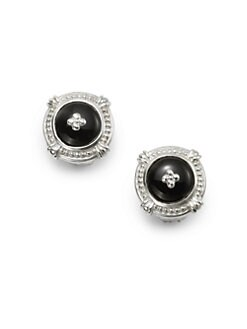 Slane - Black Onyx Dome Earrings