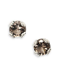 Slane - Smokey Topaz Stud Earrings