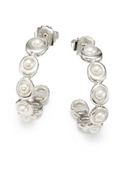 Slane - 4MM Freshwater Pearl Hoop Earrings