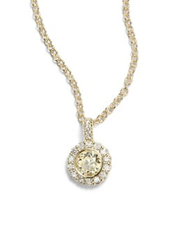 Judith Ripka - Canary Crystal, Diamond & 14k Yellow Gold Pendant Necklace