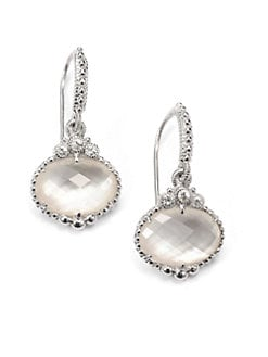 Judith Ripka - Mother of Pearl, White Sapphire & Sterling Silver Drop Earrings