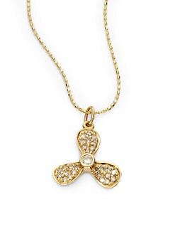 Sydney Evan - Diamond Pavé Boat Propeller Necklace