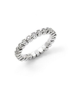 Sydney Evan - Diamond Prong Eternity Ring/Silver