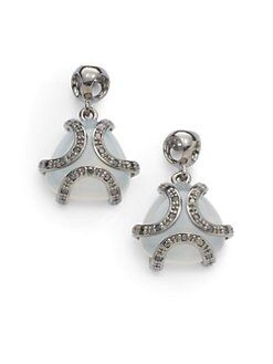 Di Modolo - Diamond & White Onyx Spirit Earrings/Black Rhodium