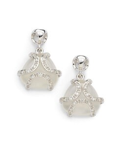 Di Modolo - Diamond & White Onyx Spirit Earrings/Rhodium