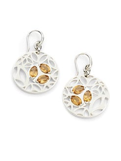 Di Modolo - Medallion Cutout Earrings/Golden Quartz