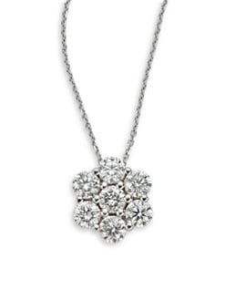 KC Designs - Diamond Flower Pendant Necklace