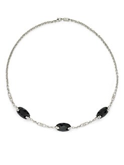 Judith Ripka - Black Onyx Circle Chain Necklace