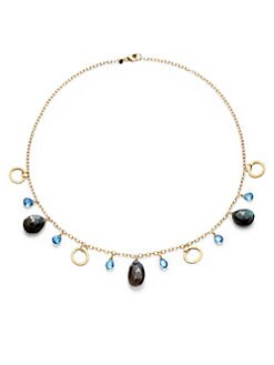 BLACK Saks Fifth Avenue - Labradorite & Blue Quartz Necklace