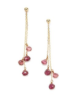 BLACK Saks Fifth Avenue - Tourmaline Drop Earrings