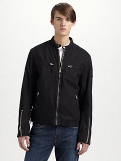 Andrew Marc - De Oro Canvas Moto Jacket