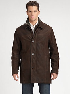Andrew Marc - Leather Walking Coat