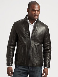 Andrew Marc - French Rugged Leather Jacket
