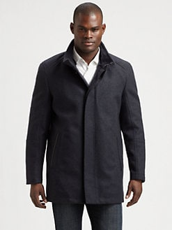 Andrew Marc - Italian Flat Wool Mid-Length Coat
