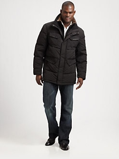 Andrew Marc - Nylon Mid-Length Parka