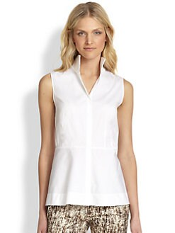 Lafayette 148 New York - Lanore Stretch Cotton Blouse