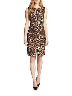 Lafayette 148 New York - Abella Leopard-Print Jacquard Dress