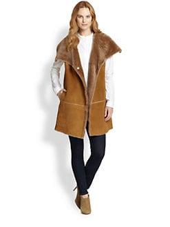Lafayette 148 New York - Oversized Shearling Vest