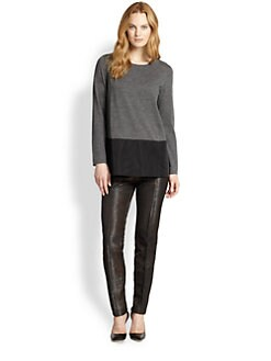Lafayette 148 New York - Contrast-Hem Sweater