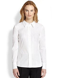 Lafayette 148 New York - Francine Stretch Cotton Blouse