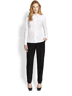 Lafayette 148 New York - Francine Stretch Cotton Blouse