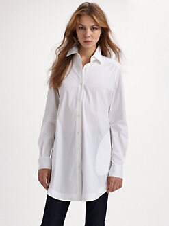 Lafayette 148 New York - Stretch Cotton Tunic Blouse