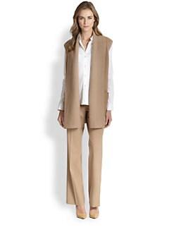 Lafayette 148 New York - Wool Contrast-Pocket Vest