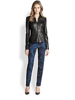 Lafayette 148 New York - Leather & Ponte Denver Jacket