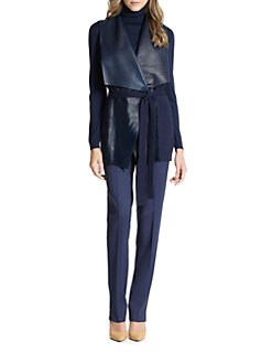 Lafayette 148 New York - Leather/Cashmere Vest