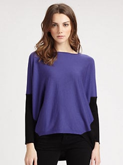 Lafayette 148 New York - Colorblock Dolman Sweater