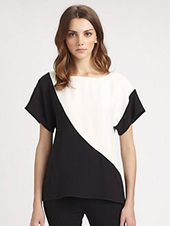 Lafayette 148 New York - Silk Nadia Colorblock Top