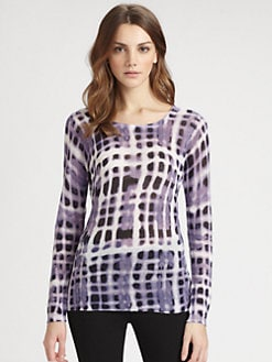 Lafayette 148 New York - Printed Long-Sleeve Top