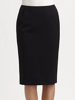Lafayette 148 New York - Stretch Wool Slim Skirt