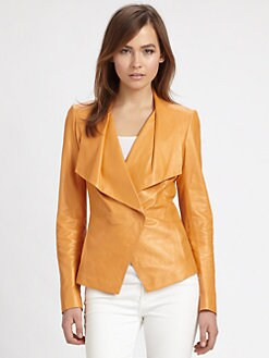 Lafayette 148 New York - Leather Cutaway Jacket