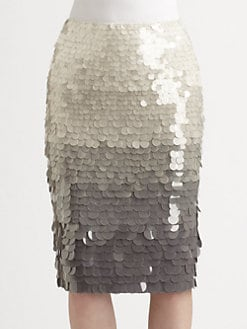 Lafayette 148 New York - Silk Sequin Skirt