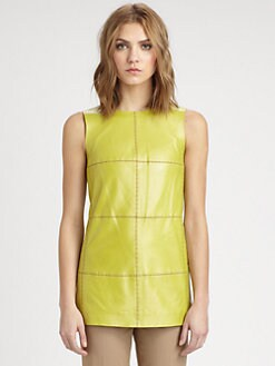 Lafayette 148 New York - Pieced Leather Top