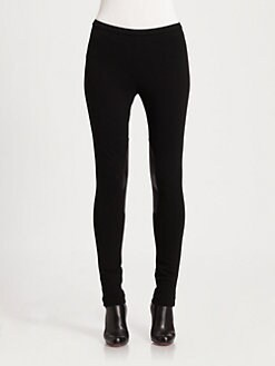 Lafayette 148 New York - Leather-Patch Skinny Pant