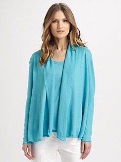 Lafayette 148 New York - Linen Shawl-Collar Sweater