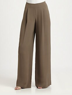 Lafayette 148 New York - Silk Wide-Leg Pants