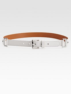 Lafayette 148 New York - Square-Ring Skinny Belt