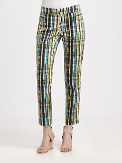Lafayette 148 New York - Prism-Print Slim Ankle Pants
