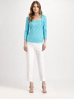 Lafayette 148 New York - Giada Three-Quarter-Sleeve Top