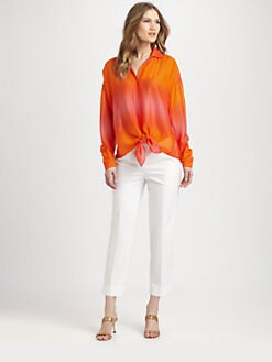 Lafayette 148 New York - Silk Ombre Lumi Blouse